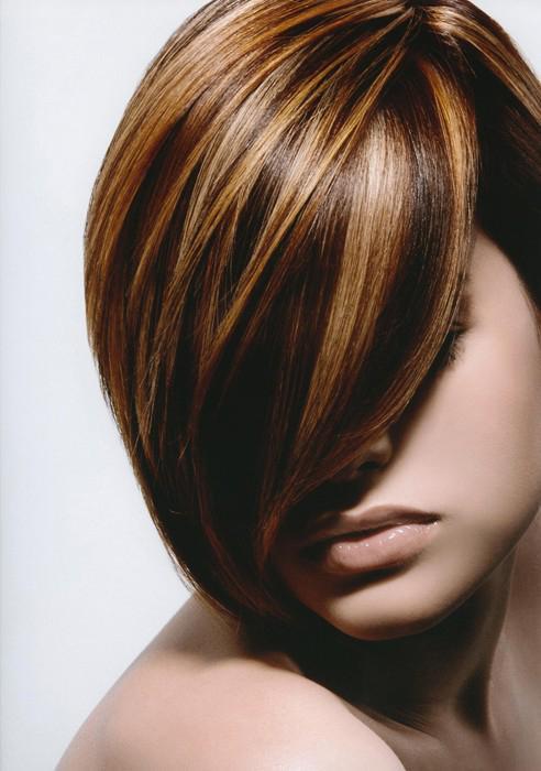 Тонирование колорирование коротких волос