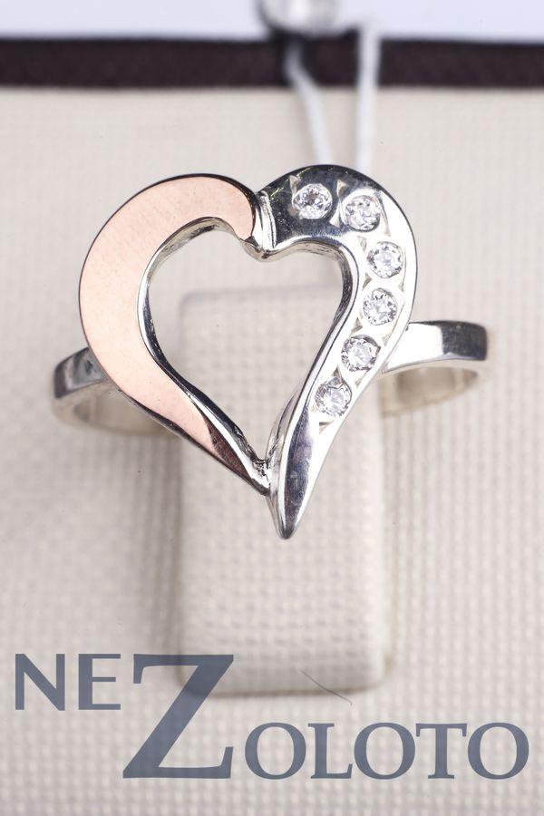купить кольцо с фианитом из серебра