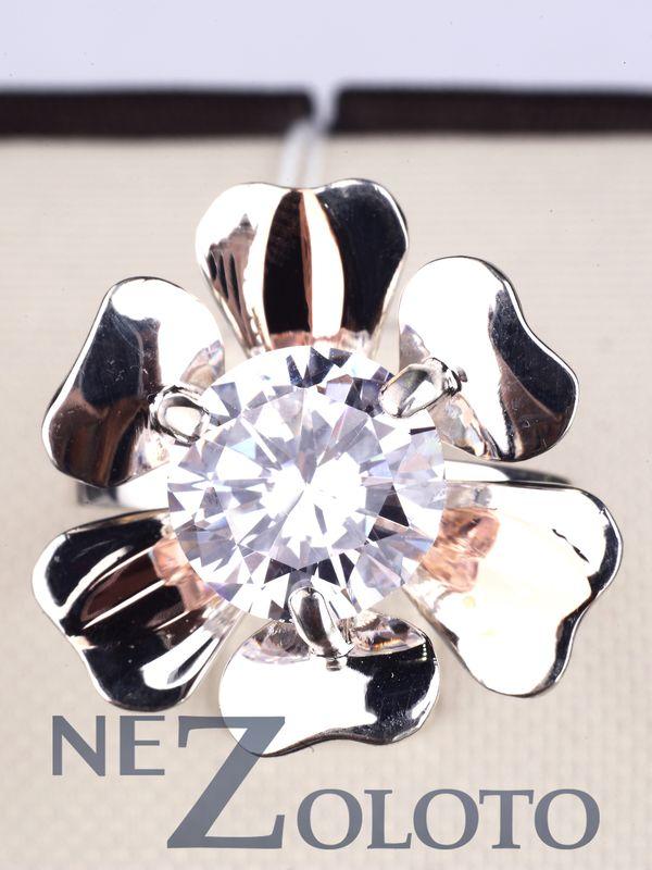 купить серебряное кольцо с фианитом