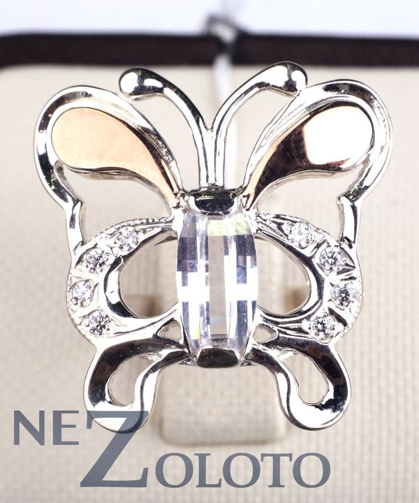 серебряное кольцо с фианитом цена