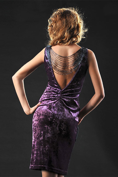 бархатное платье для свиданий