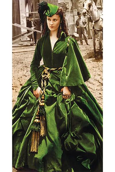 унесенные ветром платье бархат