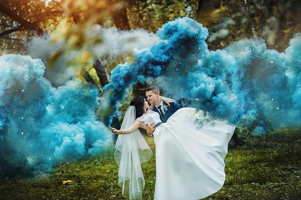 Цветной дым, дымовые шашки, факелы для свадьбы Мелитополь (4)