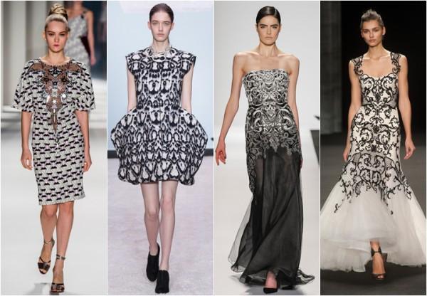 черно белые платья