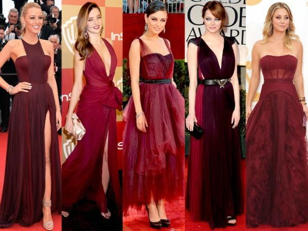 вишневые платья