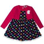 Платье длинный рукав для девочки Цветочки