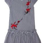 Платье для девочки Вышивка ветка сакуры Diren
