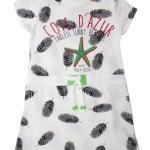 Платье короткий рукав для девочки Пёрышки Wanex