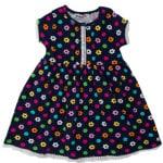 Платье короткий рукав для девочки Цветы и кружочки Wanex