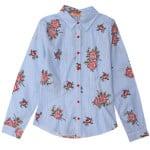 Рубашка длинный рукав для девочки Цветы Diren