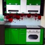 Кухня скинали Зеленая