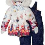 Костюм куртка и полукомбинезон зимний для девочки с опушкой и меховой подстёжкойДети в шапках Крош (2)