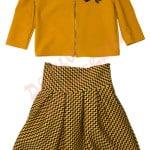 Костюм пиджак и юбка для девочки Зигзаги Kas Kids Арт. 7307