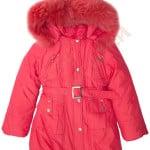 Пальто зимнее для девочки Кнопки с цветами Арт. 9-22