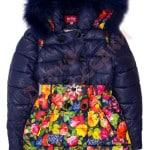 Пальто зимнее для девочки Низ-цветы Крош Арт. C-A5