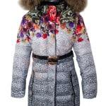 Пальто зимнее для девочки Цветы Scorpian Арт. SK-WM22