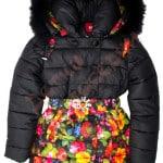 Пальто зимнее для девочки Цветы внизу Арт. С-А5 (2)