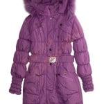 Пальто зимнее для девочки с опушкой Nui Veri