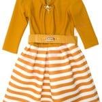 Платье нарядное для девочки Брошь на горловине Арт. 7343