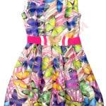 Платье нарядное для девочки Крупные бабочки Kas Kids Арт. 7376