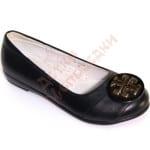 Туфли школьные для девочки Круглая эмблема B&G Арт. BG152-19
