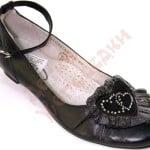 Туфли школьные для девочки Сердце Palaris Арт. 1062