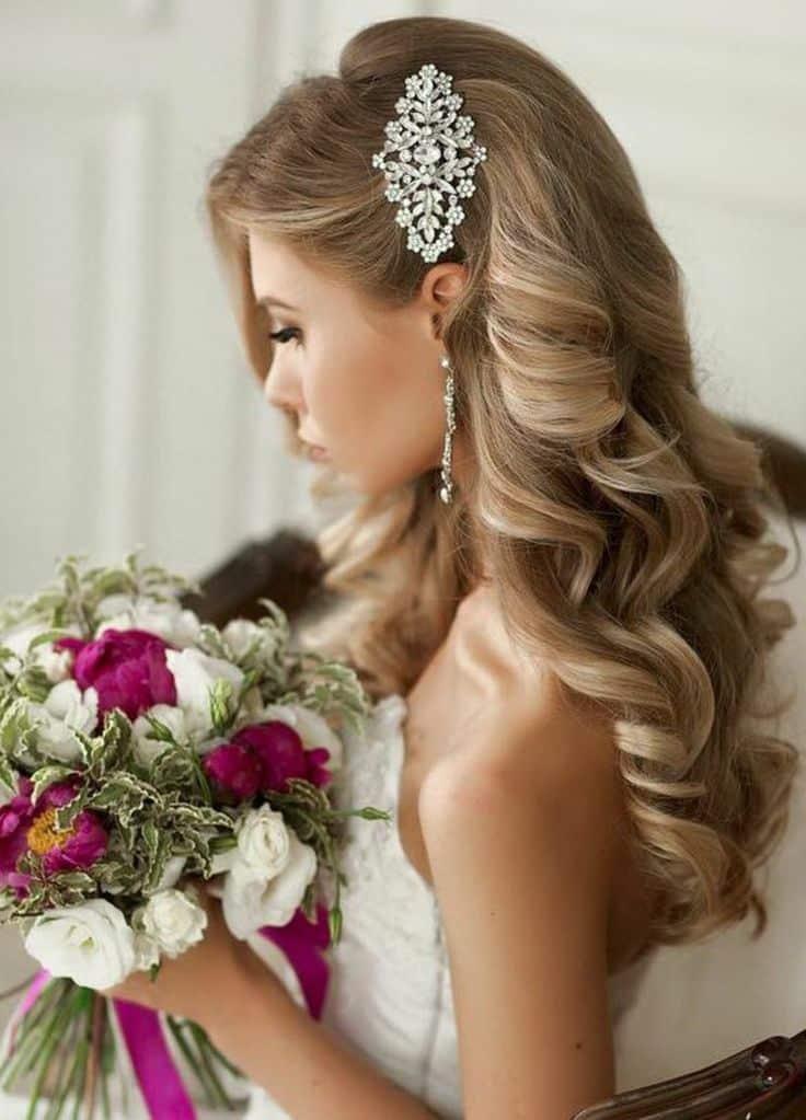 красивые прически для длинных волос на свадьбу