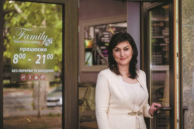 Колтунова Оксана власниця кафе Family