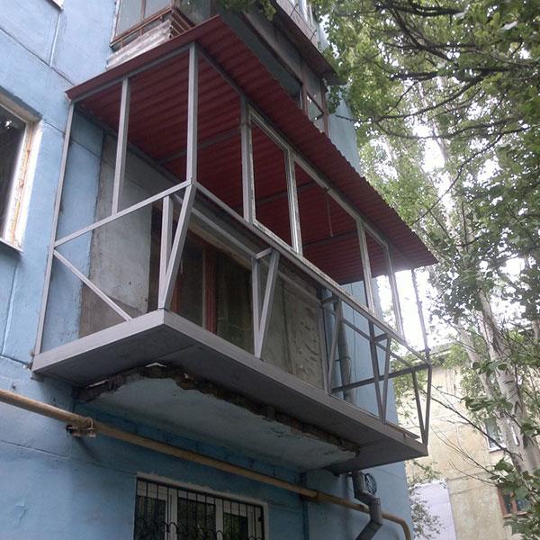 Балкон с выносом от настоящих профессионалов