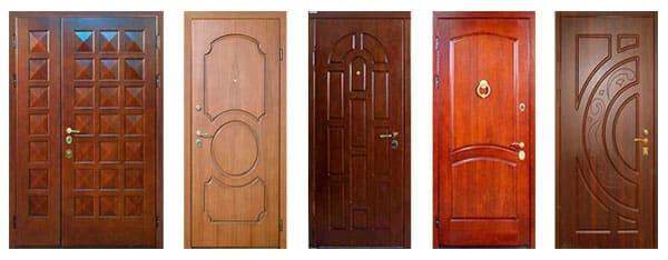 различные модели входных дверей