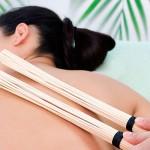 Массаж бамбуковыми палками и вениками