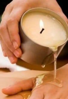Массаж массажными свечами